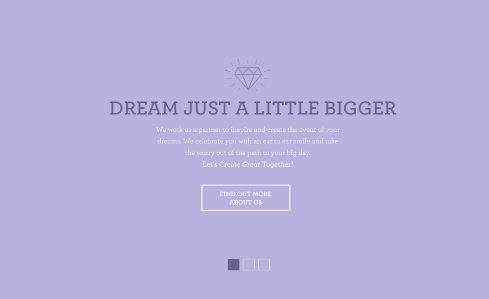 Allyson Vinzant Wedding Planner Website Concepts